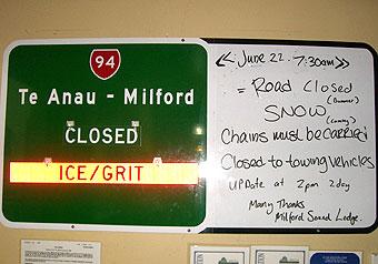ミルフォードに閉じ込められる