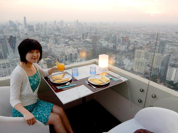 バンコクの一番高い所でプロポーズ