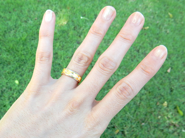タイで婚姻手続き1 さよなら車両進入禁止の指輪