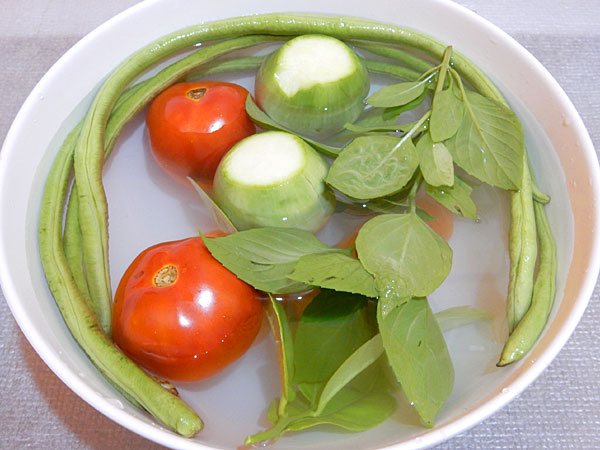 自炊用 タイの野菜と価格など