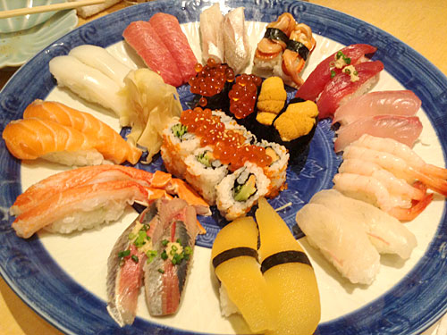 東京へ 回らない寿司をご馳走になる