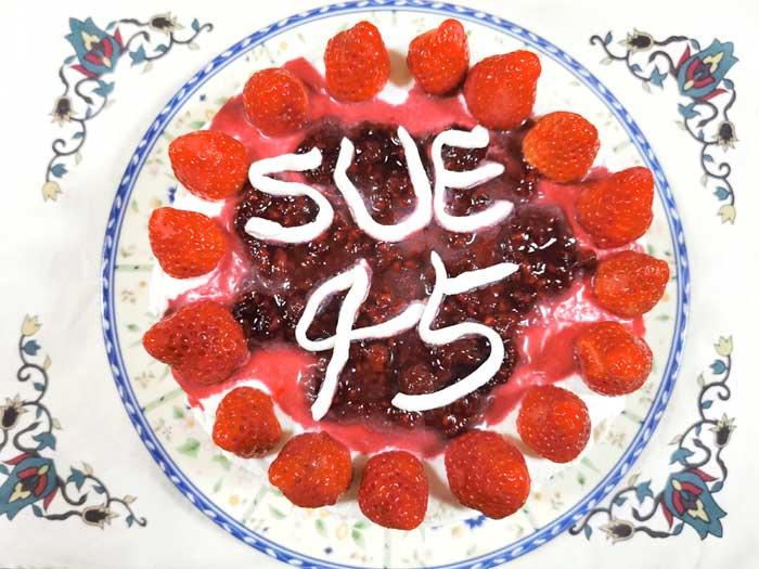 誕生日ケーキを作る