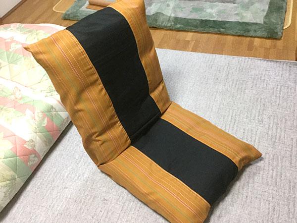 簡単座椅子カバーの作り方 反物で和風カバーを作ってみました