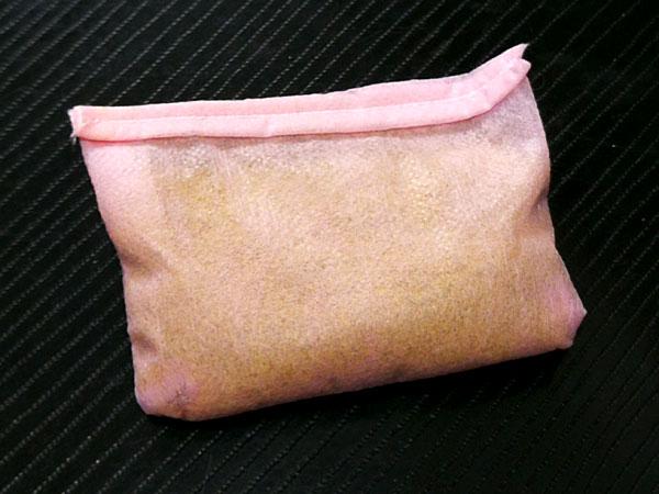 不織布で作る、使い捨てぬか袋 簡単便利、お肌ツルツル☆
