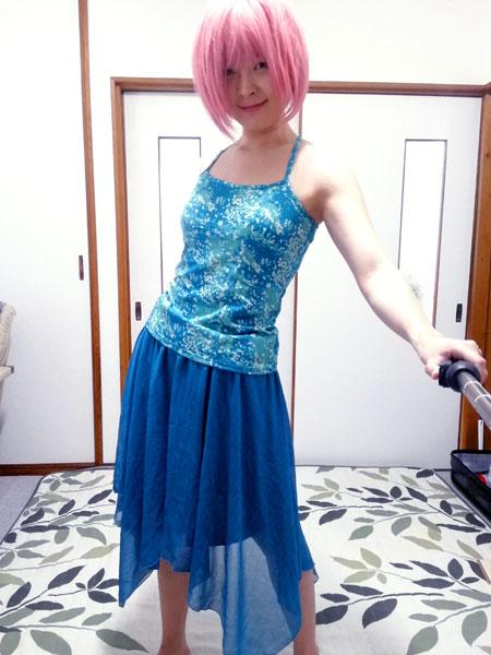 【簡単リメイク】キャミワンピをスカートに! 着れない服が復活よ☆