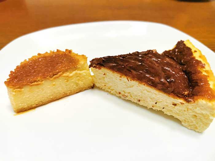 バスク風チーズケーキを食べる