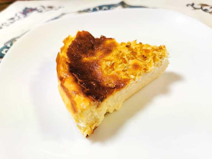 バスク風チーズケーキにゆず