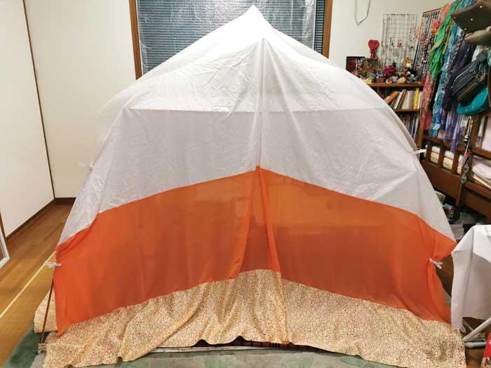 自作室内テント設置