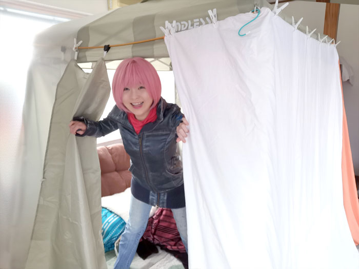 冬の室内テントを新しく購入!女性1人で設置、空間広々で大満足☆