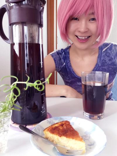 夏にピッタリ☆豆をミルサーで挽いた水出しアイスコーヒーが美味♪