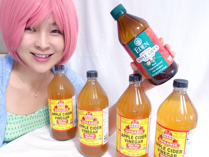 酵母入りの有機りんご酢を約4リットル、タイムセールで購入♪