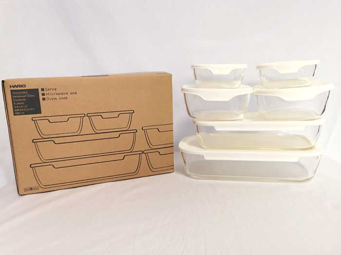 ハリオの耐熱ガラスタッパー