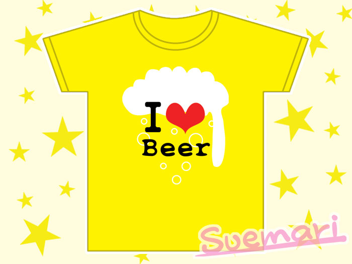 アイラブビール Tシャツ