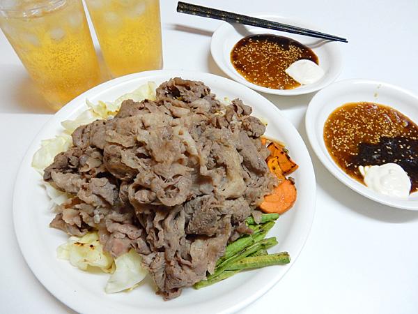 牛焼肉と焼野菜