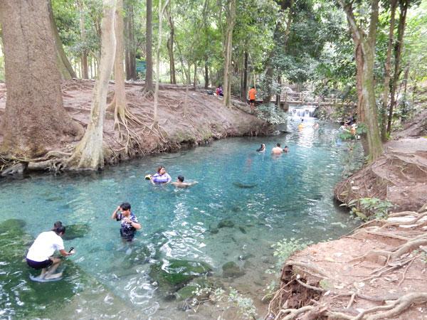 綺麗な湧き水の泉 ナンプー カオヤイの地元で人気の水浴びスポット