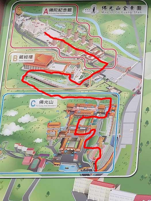仏光山の地図