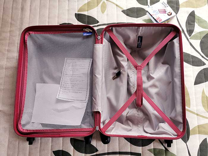 スーツケースの容量