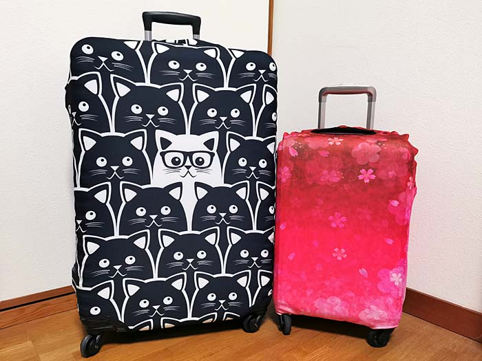 スーツケースカバーがオシャレ!傷防止、盗難防止、見つけやすい!