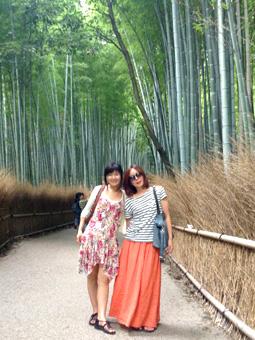 スペインから来た友達と京都観光 鈴虫寺~天龍寺